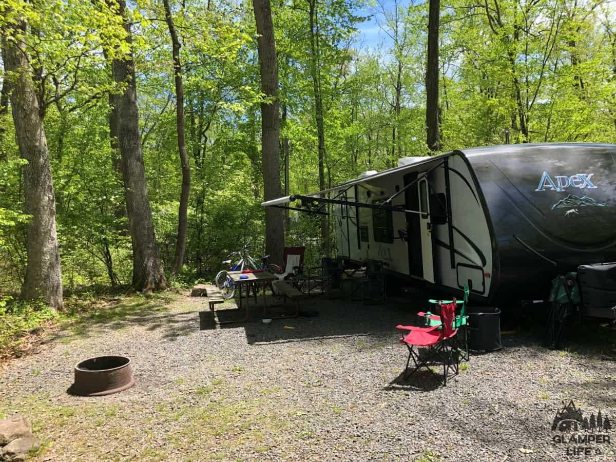 camping social distancing ringing rocks