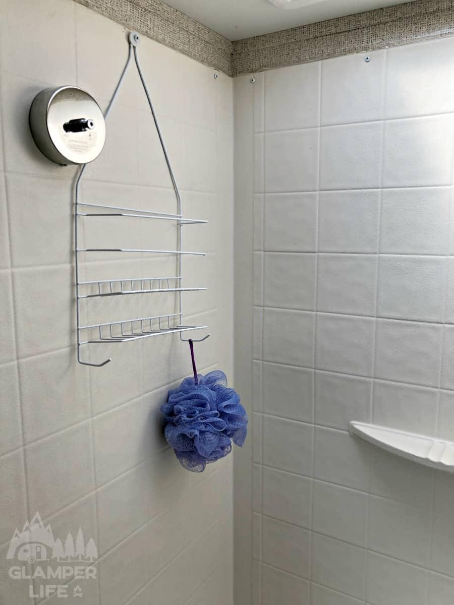 shower rack rv