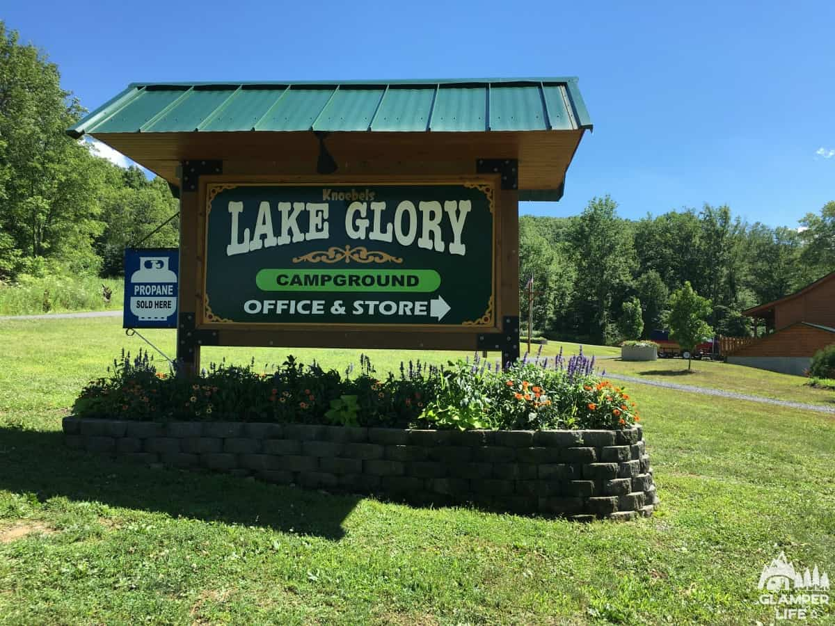 Lake Glory Campground Sign