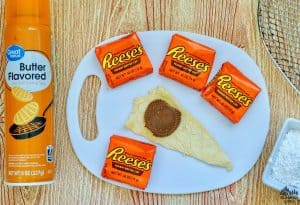 Air Fryer Reeses Crescent Roll