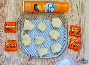Air Fryer Reeses Wrapped and Sugared