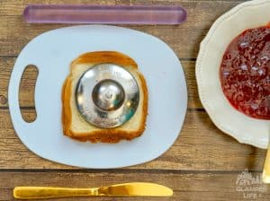 Homemade Uncrustables Sandwiches Cutter