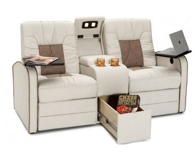 Qualitex De Leon RV Loveseat With Console