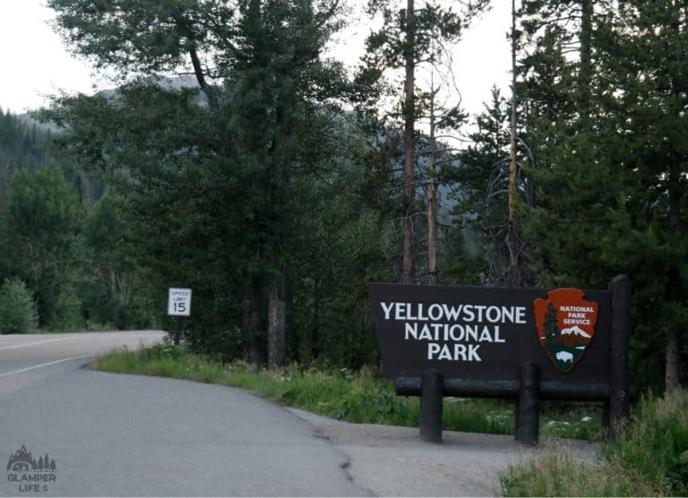 Yellowstone East Entrance Sign