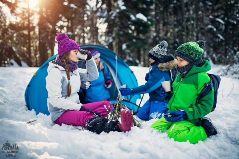 Camping Kids Winter HERO