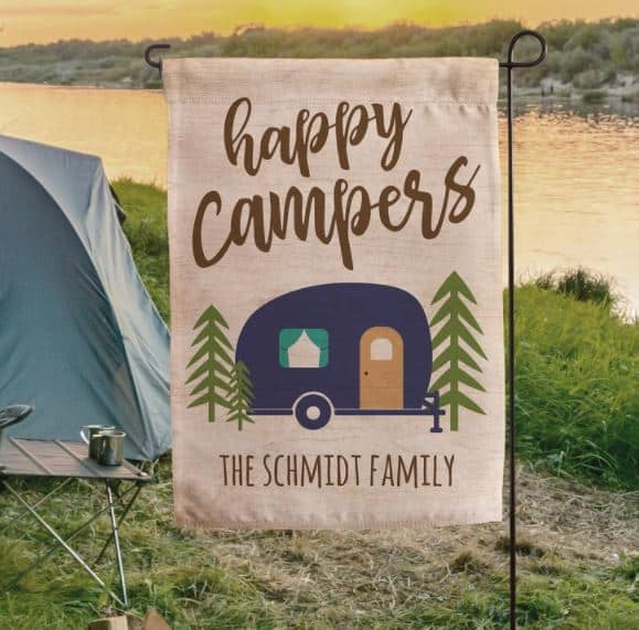 Happy Campers Personalized Campsite Flag