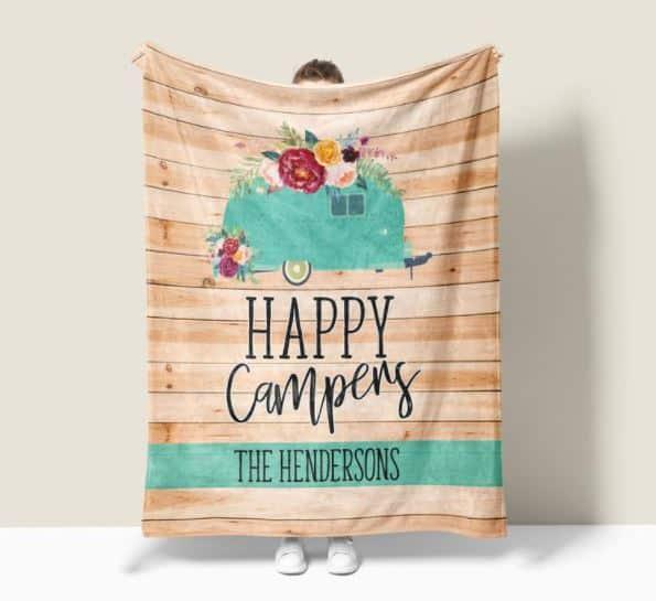 Personalized Camper Blanket