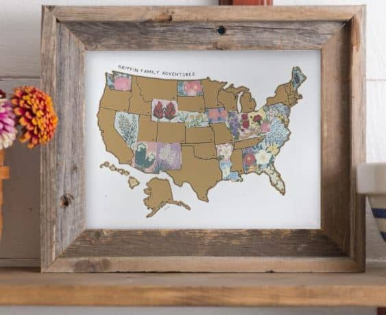 Personalized Travel Scratch-Off USA Map