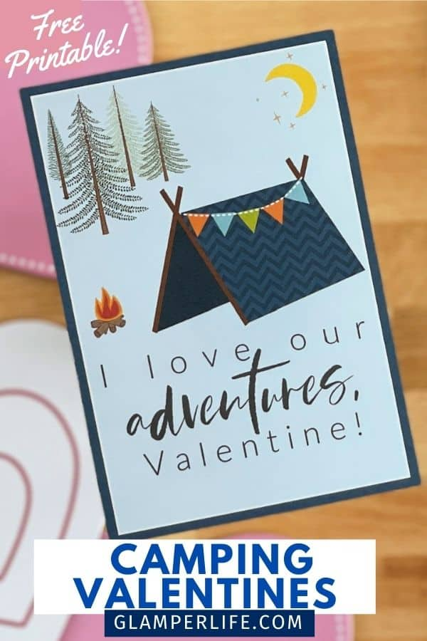Tent Camping Valentine PIN