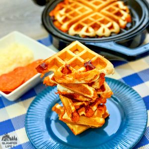 Waffle Iron Pizza SQUARE 2