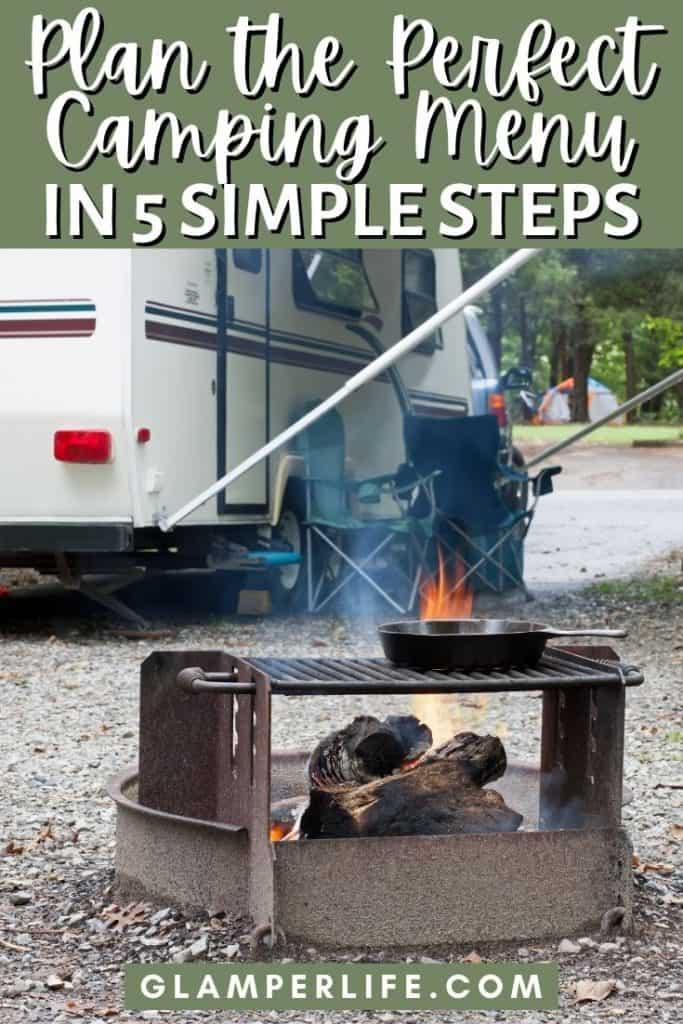 Making a Camping Meal Plan PIN