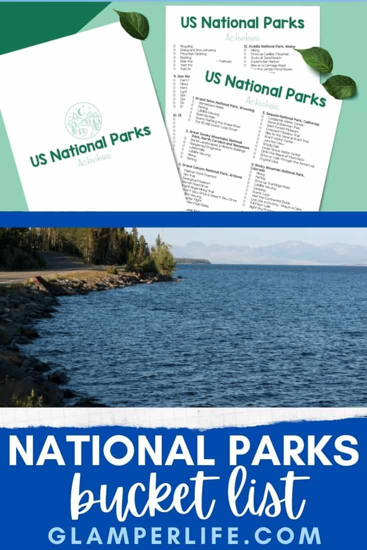 National Parks Bucket List PIN