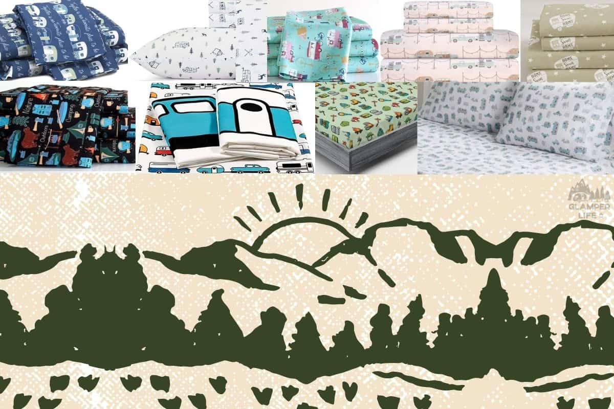 RV Themed Camper Bed Sheets