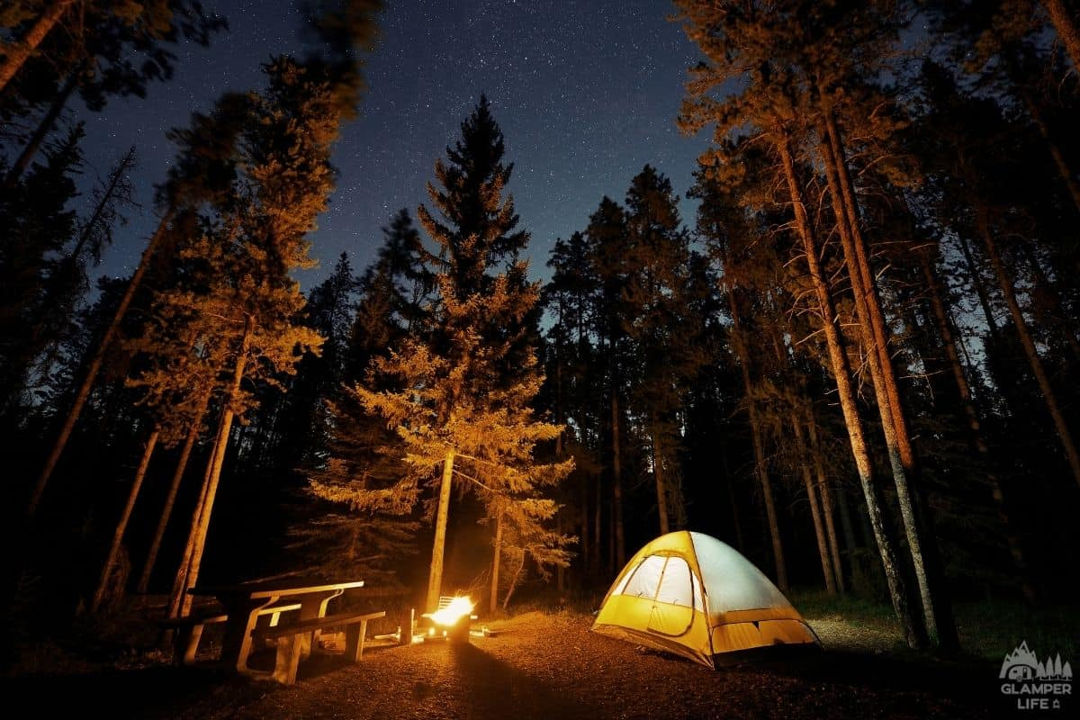 Summer Night Tent Camping