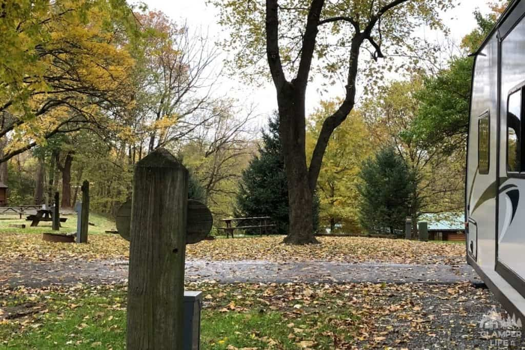campground in fall