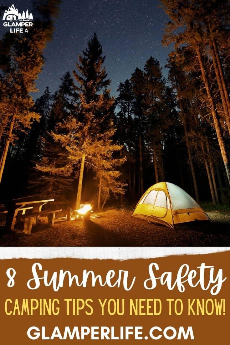 summer camping safety tips PIN