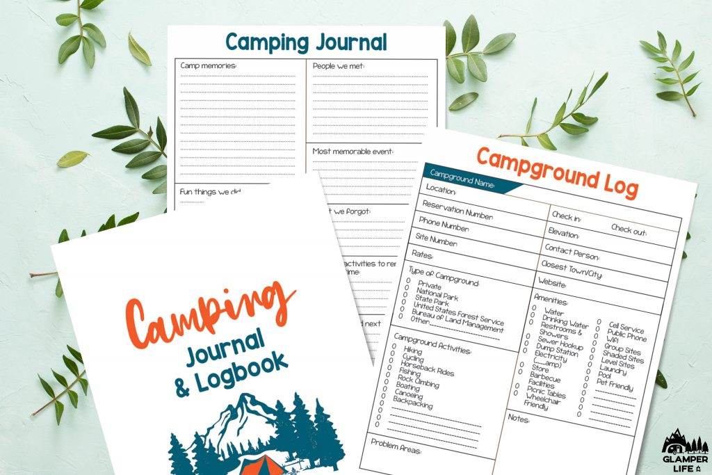 Camping Journal and Log Glamper Life