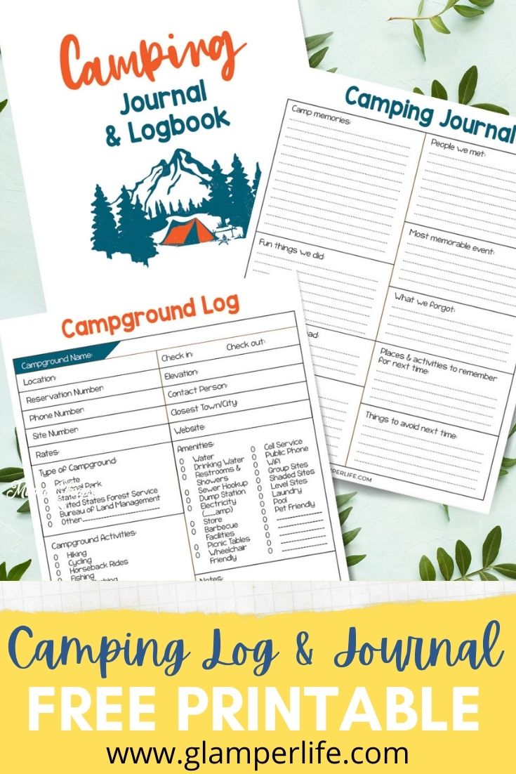 Camping Log and Journal PIN