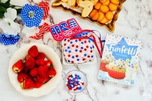 4th of July Funfetti Dip Decorated Sprinkles