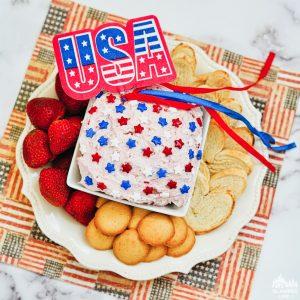4th of July Patriotic Funfetti Dip Recipe