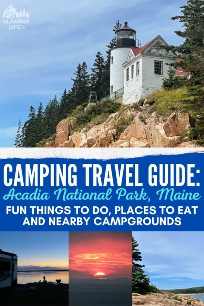 Acadia National Park Maine Camping Guide PIN