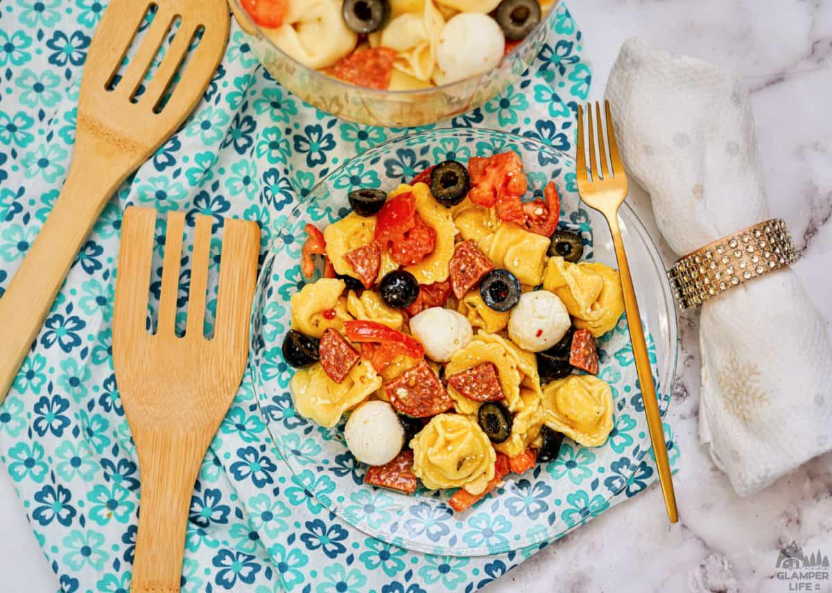 Summer Tuscan Tortellini Pasta Salad HERO