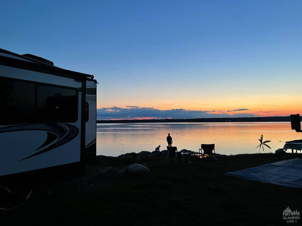 Sunset over Bar Harbor KOA Campground