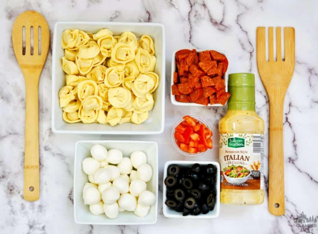 Tortellini Pasta Salad Ingredients