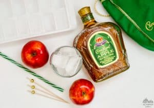 Crown Apple Cider Ice in Glass