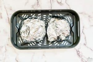 Foil packs in air fryer basket
