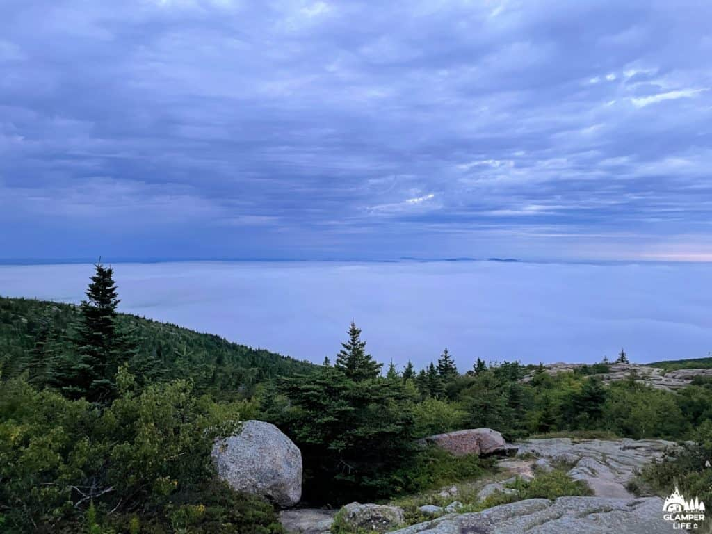 Clouds and Fog Cadillac Mountain