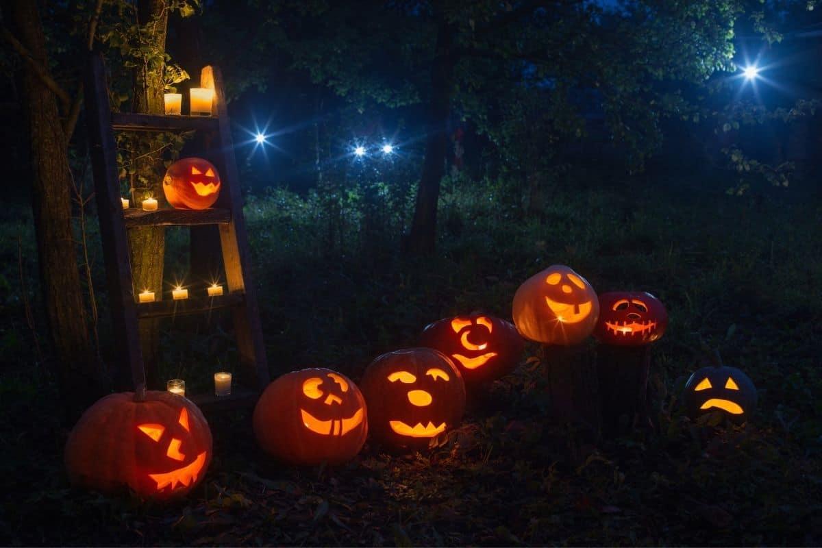 Jack O Lanterns in dark HERO